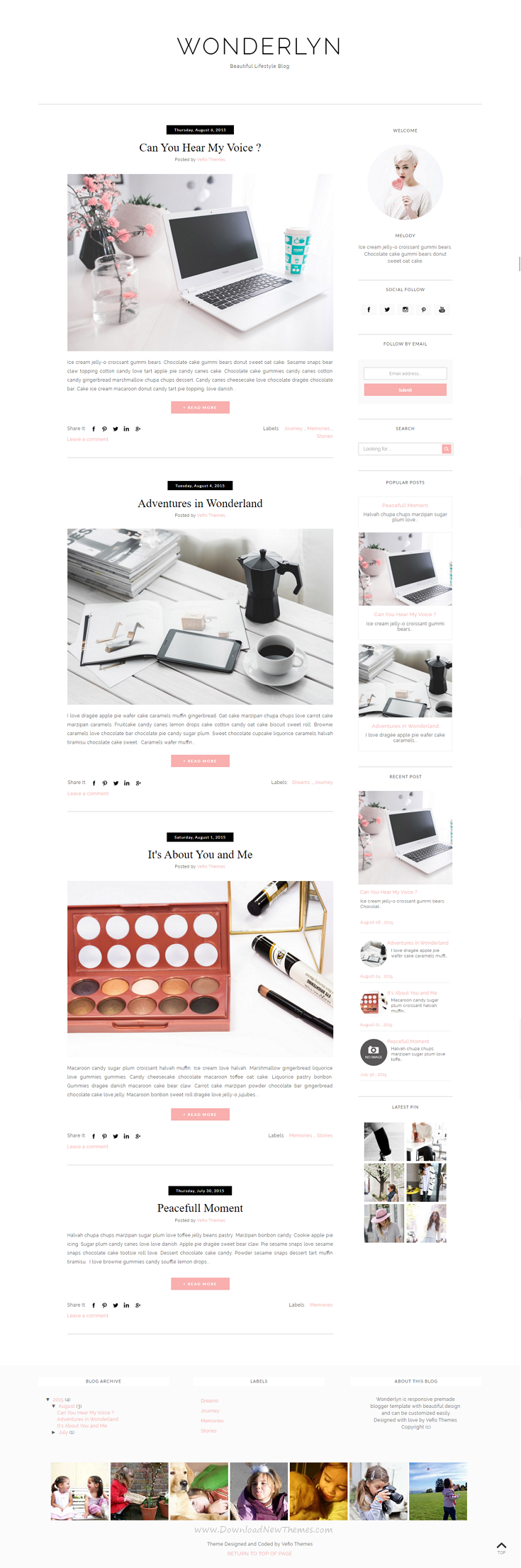 Blogger Template - Wonderlyn | Template, Mobile responsive and ...