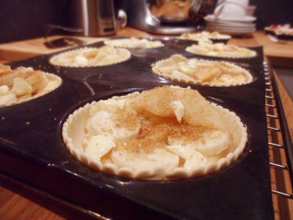 Home made apple and banana pies