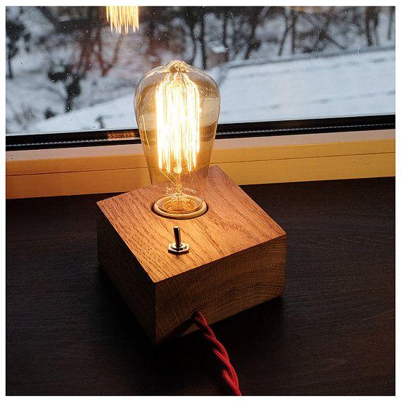 Edison Bulb Floor Lamp Canada: Edison Lamp Industrial Lamp Steampunk Lamp Wooden Edison