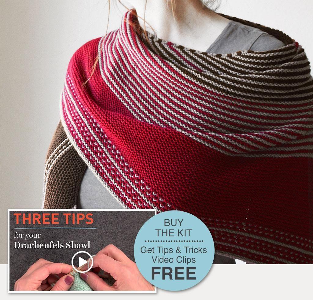 3be0a0f84 Drachenfels Shawl Kit + FREE Tips   Tricks. I found my motivation ...