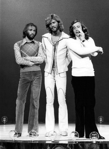 Maurice Gibb Barry Gibb Robin Gibb Of The Bee Gees Bee Gees Barry Gibb Gees