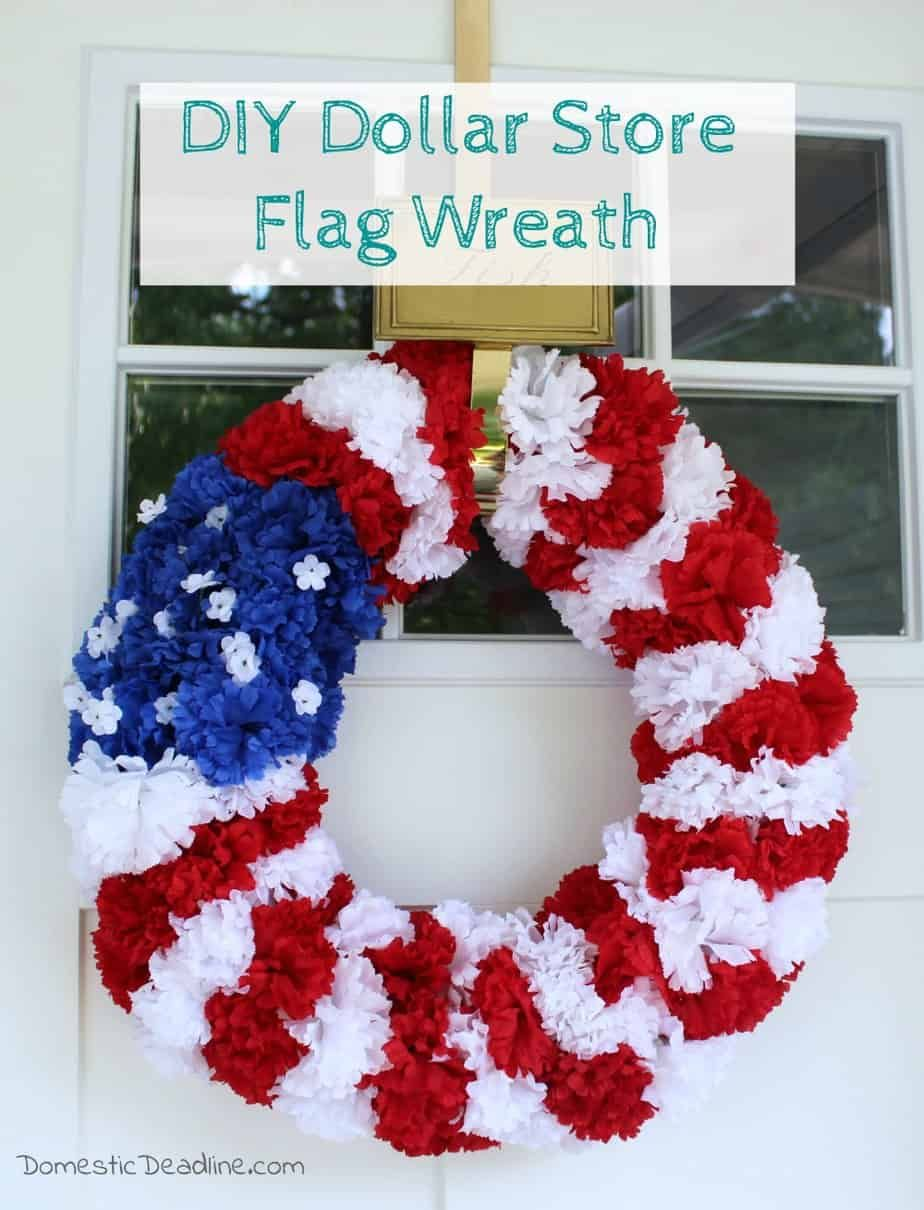Photo of DIY dollar store flag wreath – domestic period