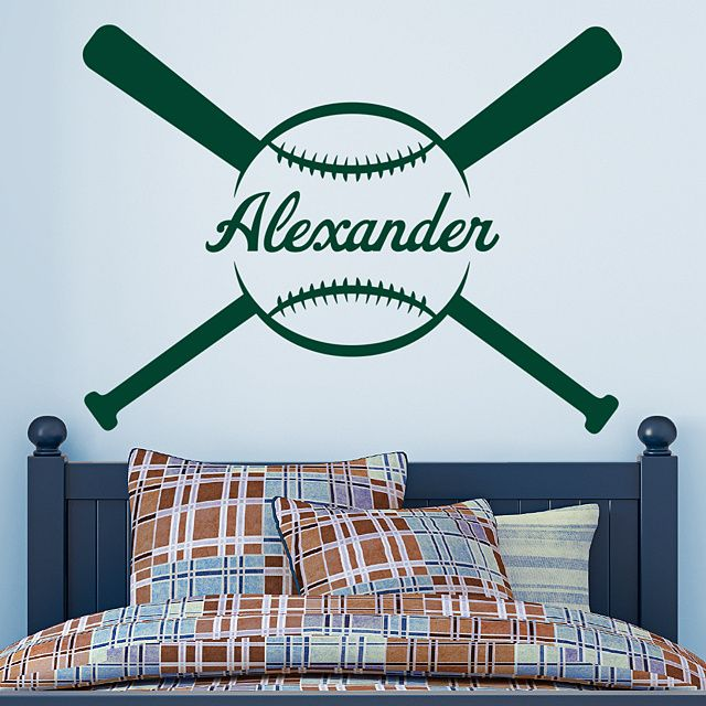 Baseball Personalized Name Giant Transfer Decal Wall Decal