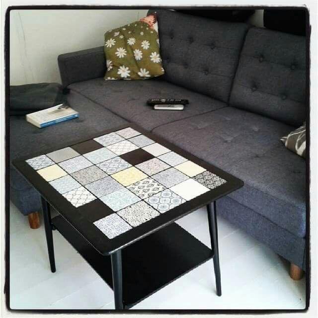 Sofabord, hjemmelavet, klinker, fra gammelt til nyt