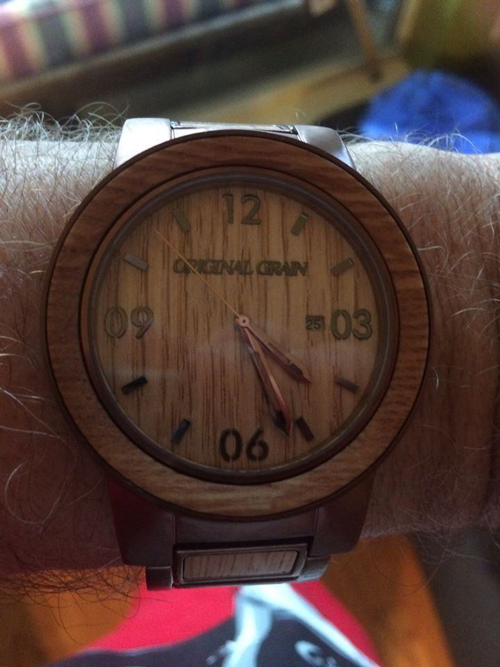 """The brothers of the Mandeville Bourbon Club congratulate brother Michael for this great Christmas gift given to him by his wife, Collette. Pretty cool. Michael will know the """"time"""" to BUNG UP AND BOURBON DOWN!"""