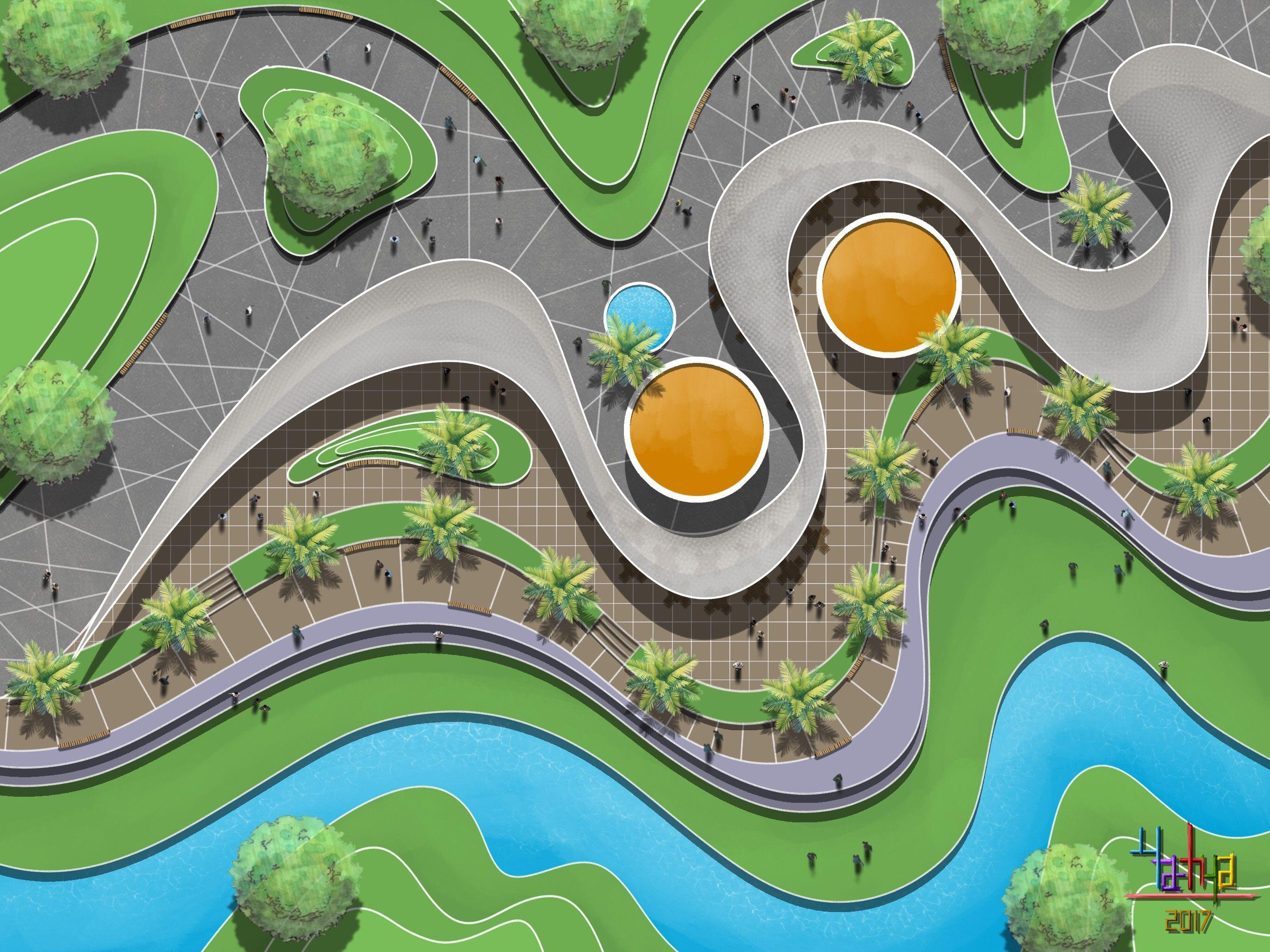 Pin By Sufi On Peyzaj Projeleri Landscape Design Drawings Urban Landscape Design Landscape Architecture Design