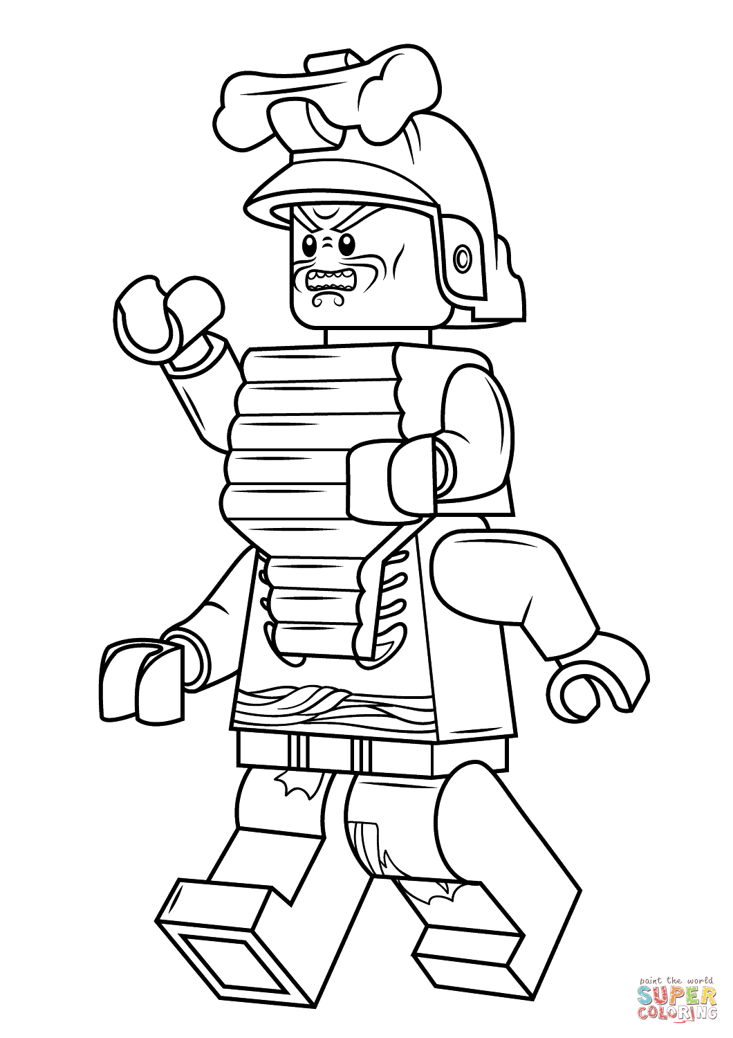 Lego Ninjago Lord Garmadon  Super Coloring  Lego coloring pages