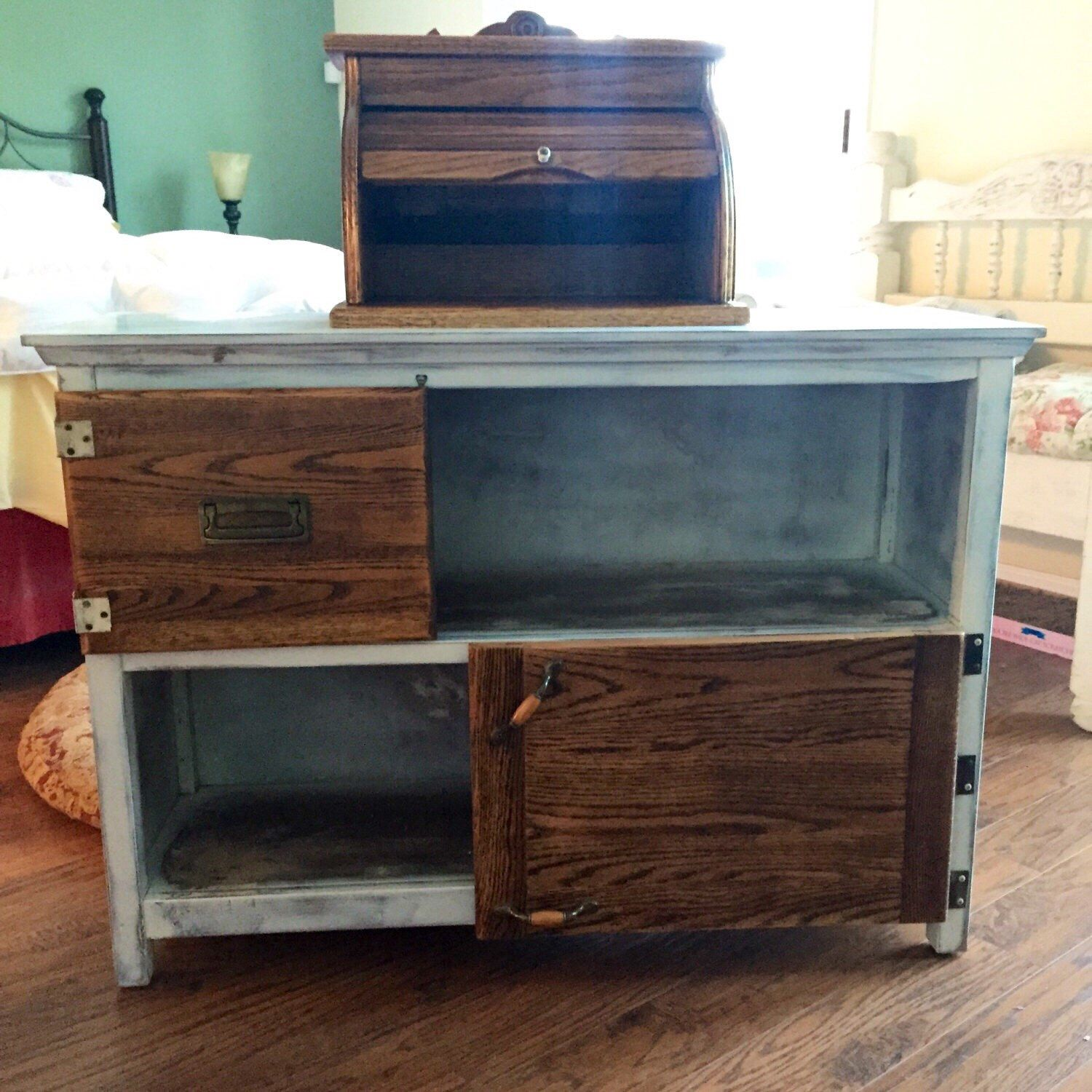 SOLD Country Kitchen Storage Cabinet white shabby chic sales