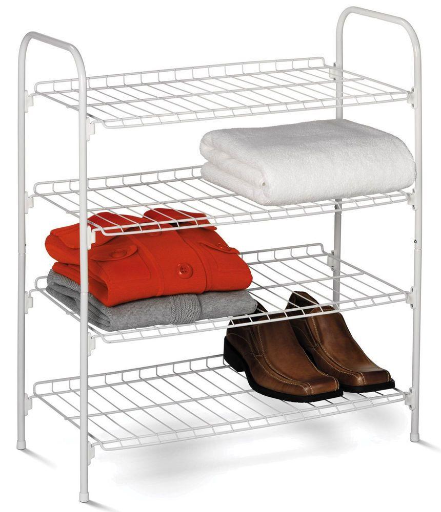Small Wire Shelf Closet Organizer Shoe Cloth Laundry Bedroom ...