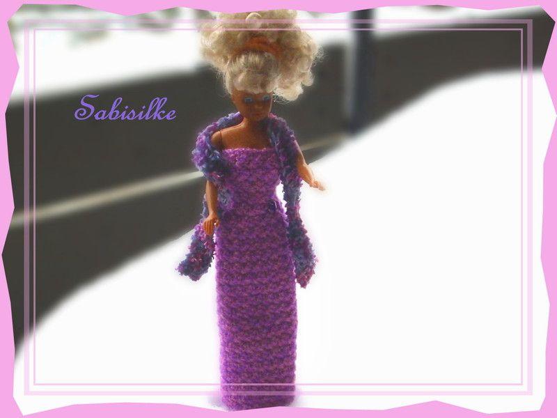 Barbiekleid - enges Abendkleid mit Strass-Herz für Barbie  - ein Designerstück von Sabisilke bei DaWanda