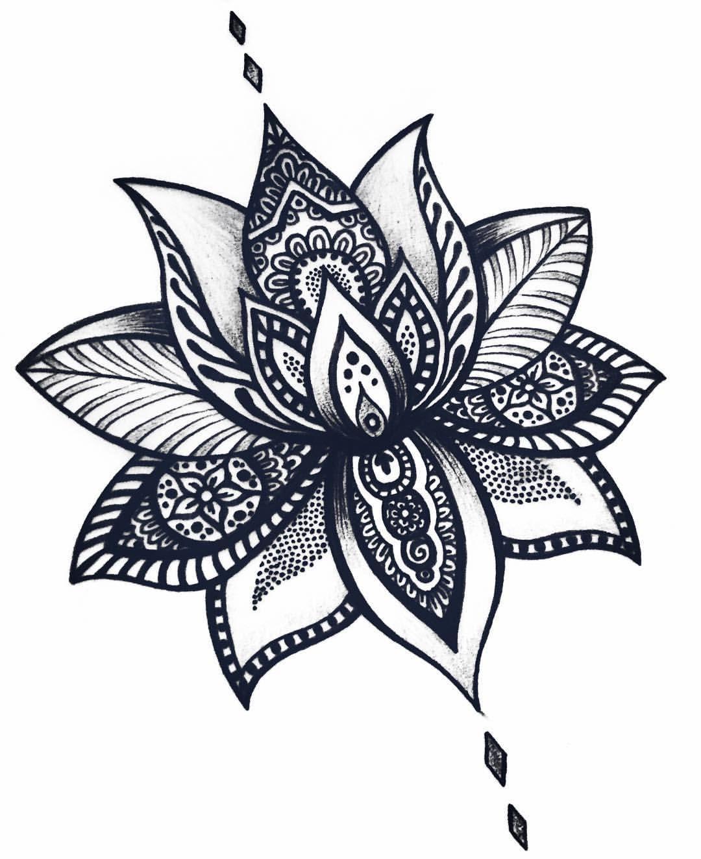 Flor De Loto Tattoo Pinterest