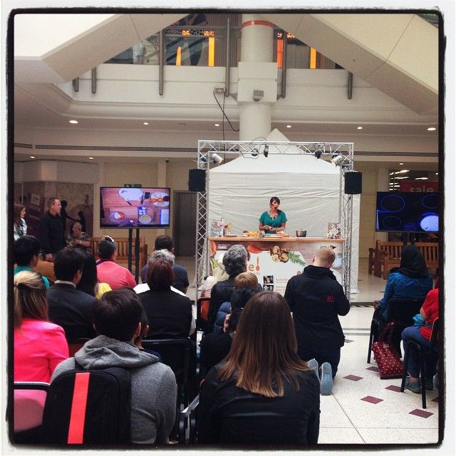 Demoing some of my #recipes at Intu Bromley, London!