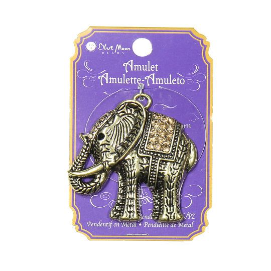 <div>Design pretty jewelry for yourself or a loved one using the Blue Moon Beads® Metal Elephant...