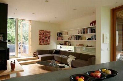 Love The Step Down Living Area Interieur Design