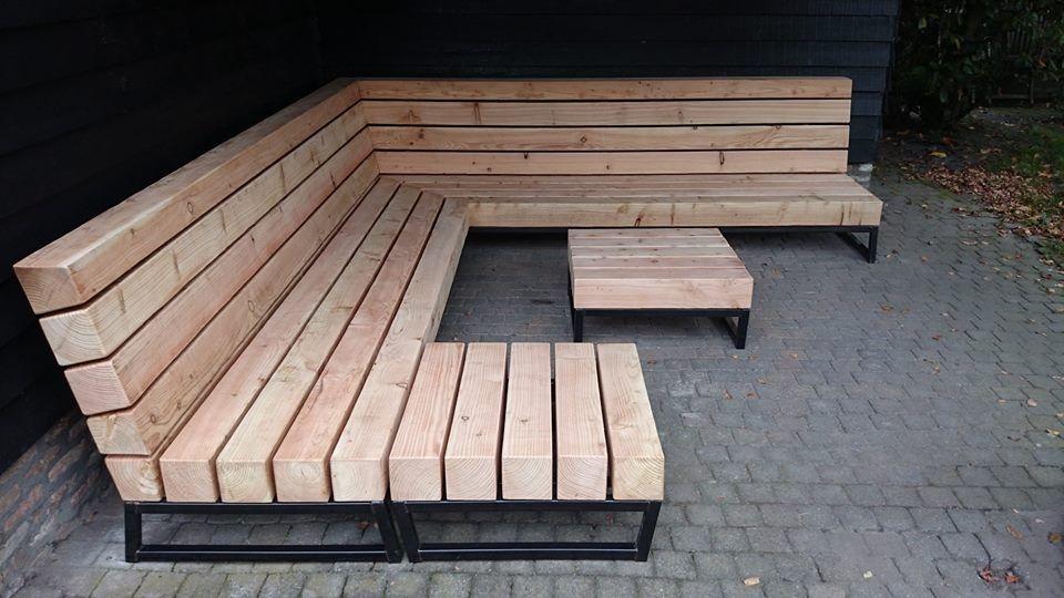 Unieke design loungebank voor in de tuin   Houtkwadraat