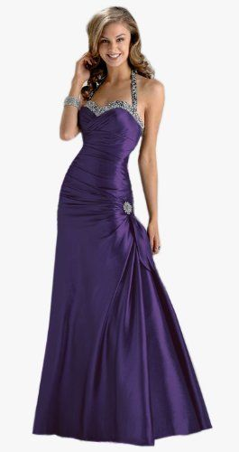 Gorgeous Halter-neck Dress, Prom Ball Gown, Evening wear in Purple ...
