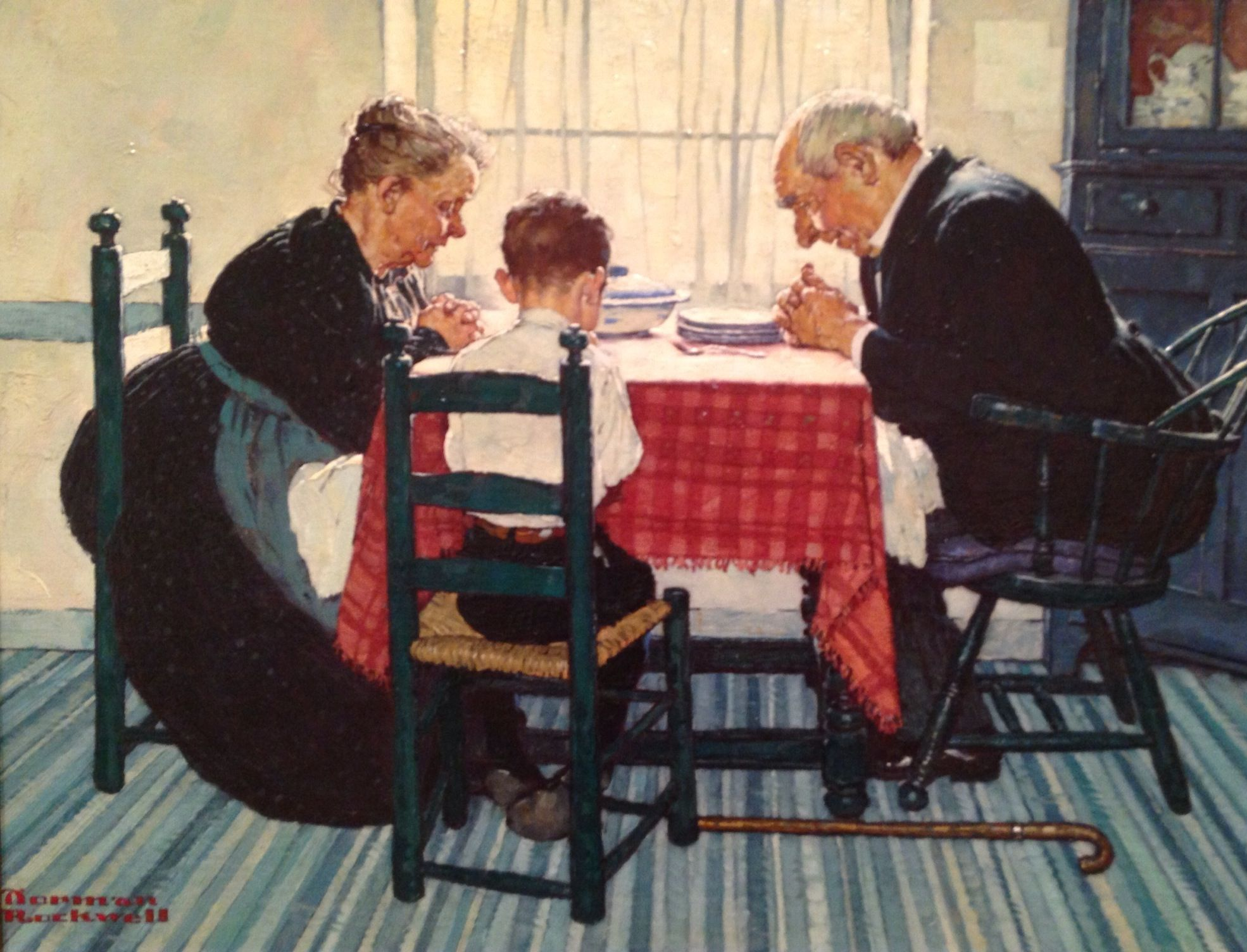 Norman Rockwell 1894 1978 Family Grace Ladies Home