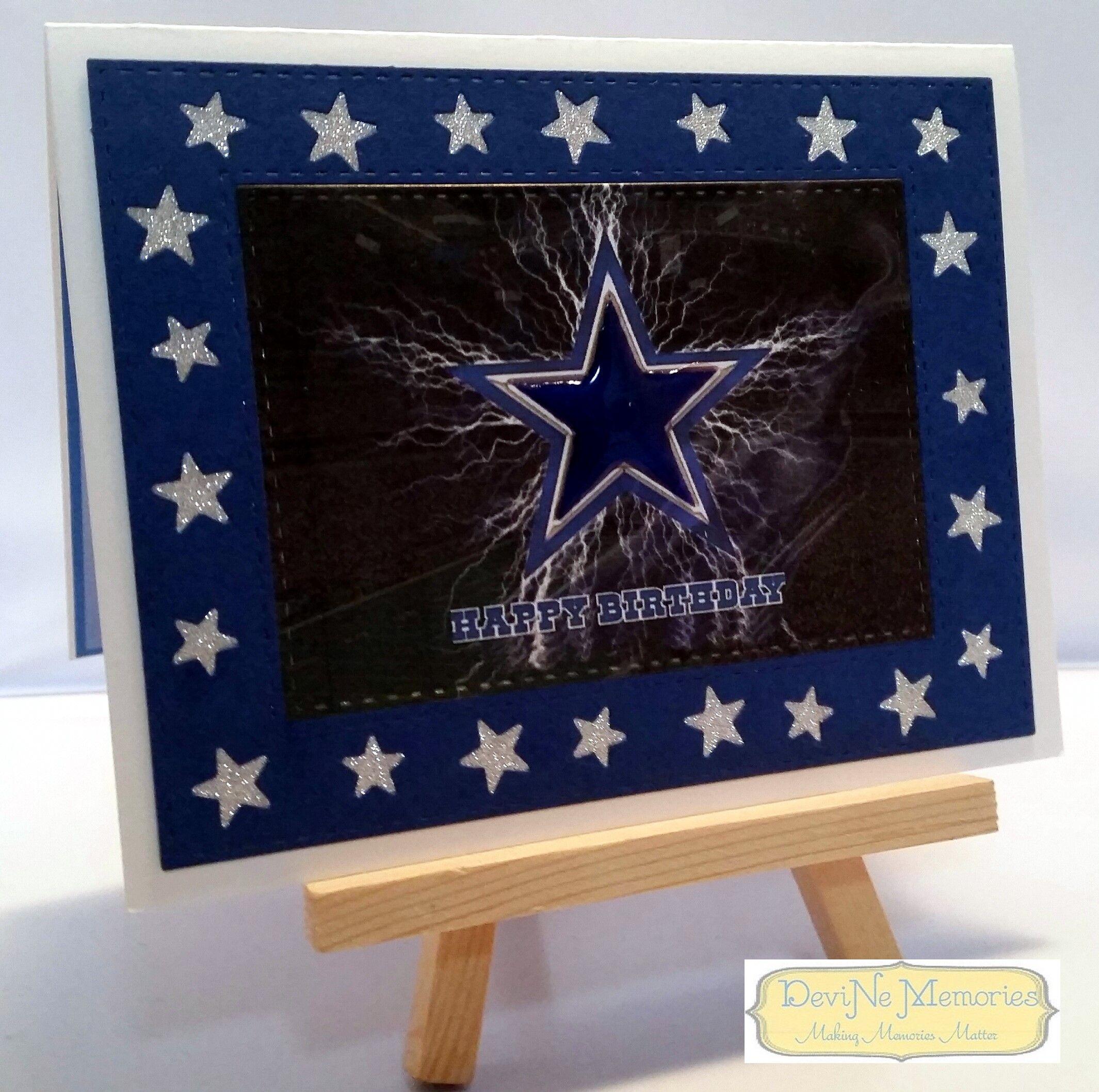 Birthday Card Happy Birthday Dallas Cowboys Themed