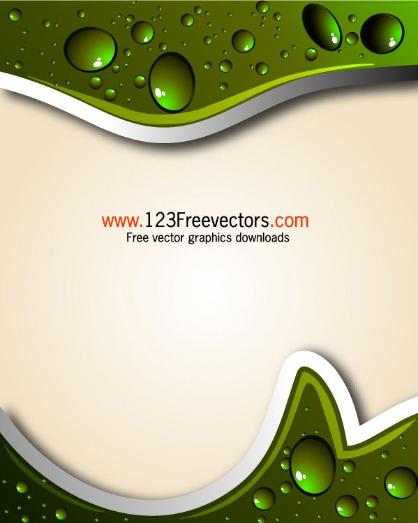Vector Graphics | Free Vector Abstract Background with Water Drops ...