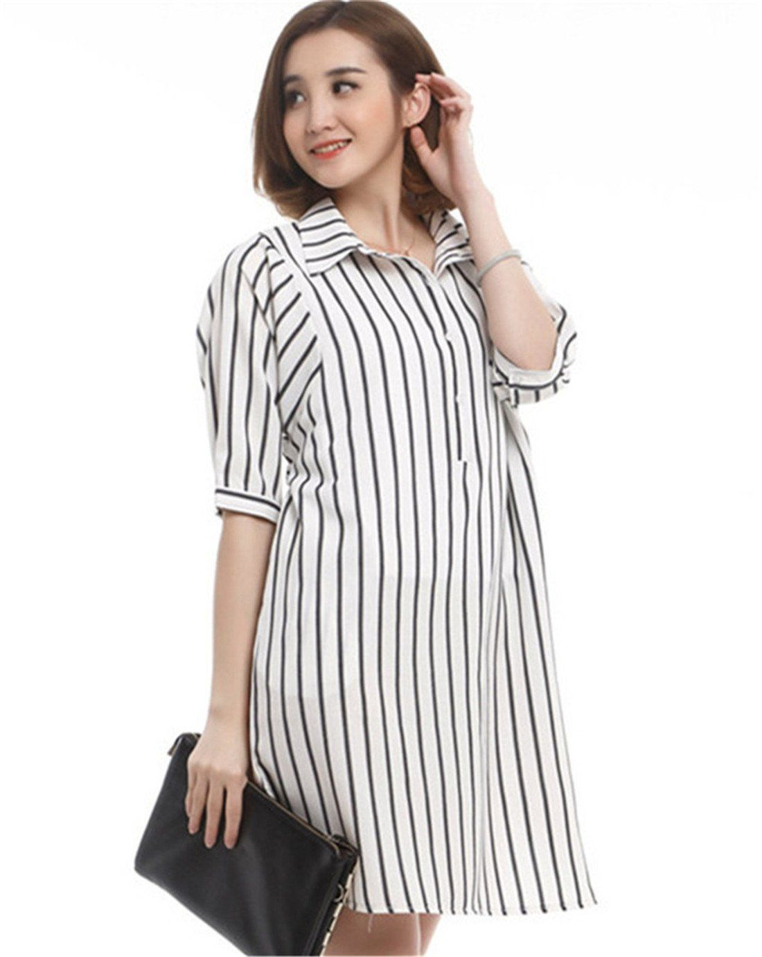 55e4a2e39b63 Maternity Dresses - Summer Breastfeeding Nursing Tshirt Dress Pregnant  Clothes Stripe White    Much more info can be located at the picture link.