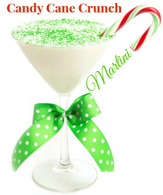 Candy Cane Crunch Martini (1.5 oz Vanilla rum 1.5 oz White chocolate liquor 1.5 oz Peppermint schnapps)