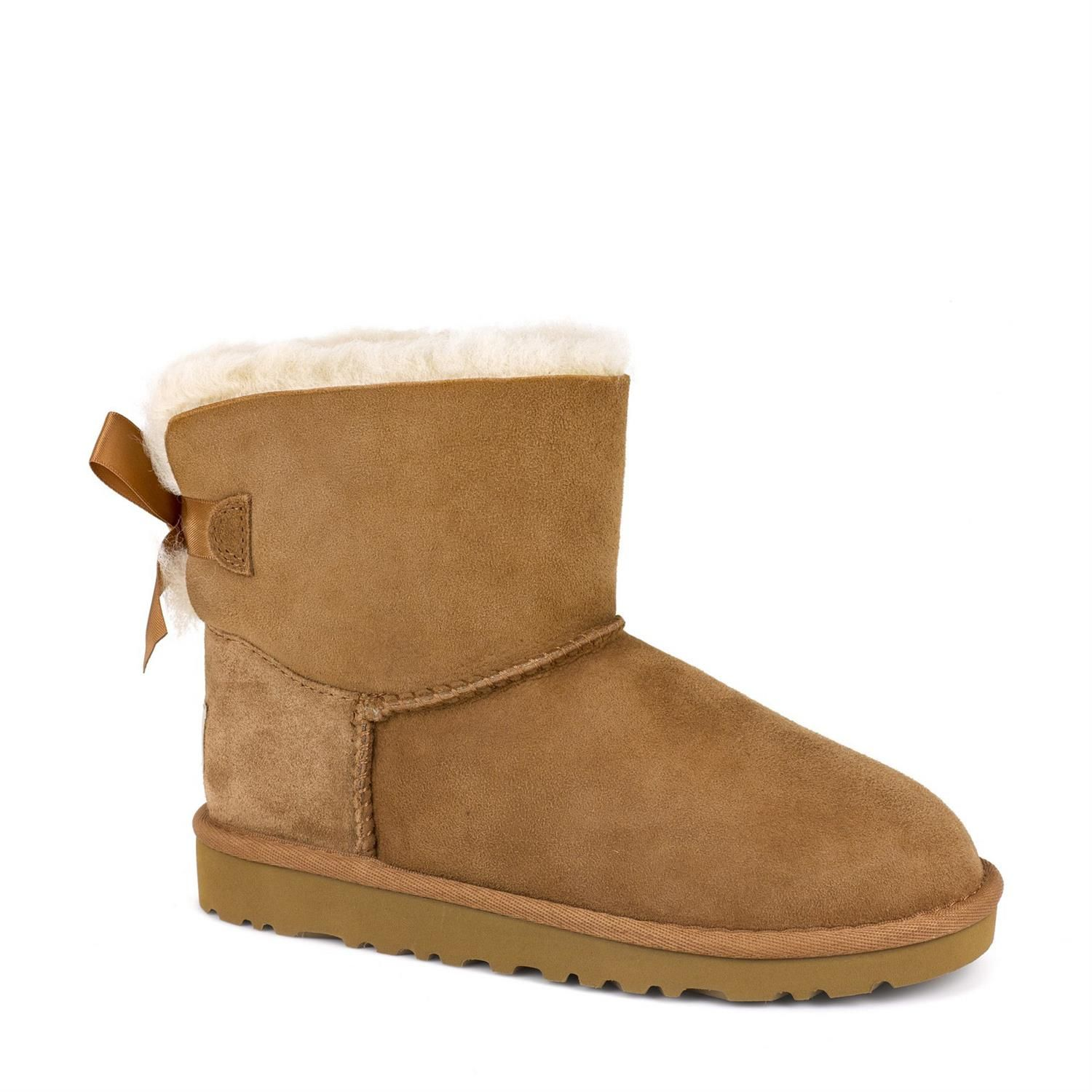 Toddlers' Mini Bailey Bow boot in chestnut by UGG Australia