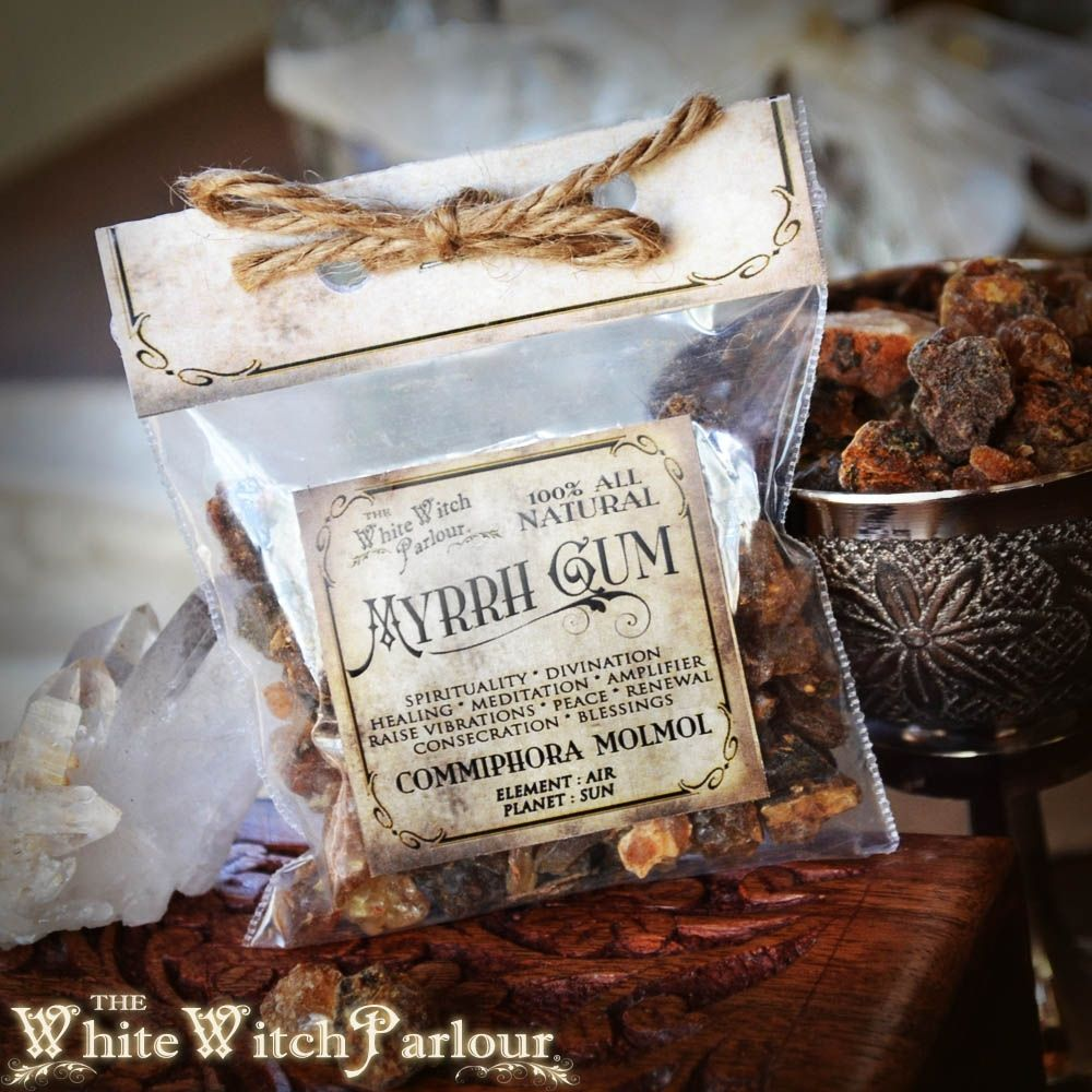 MYRRH GUM RESIN. Commiphora molmol. For spiritual growth, cleansing, purification, holy, smudge, protection