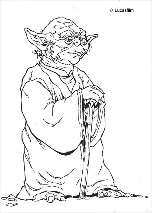 Old Yoda coloring page. More Star Wars content on hellokids.com ...
