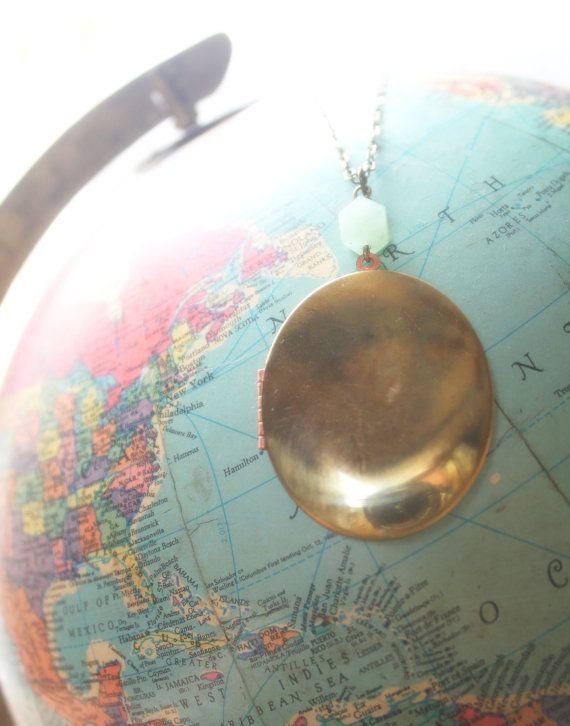 Vintage Locket Necklace, Long Layering necklace by EclecticOrchid, $30.50