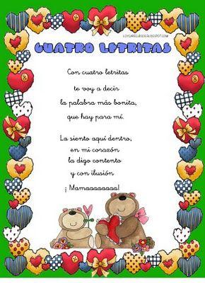 Poemas Canciones Para El Dia De La Madre Para Niños Dia De La Madre Poema Con Imagenes Poema Para La Madre