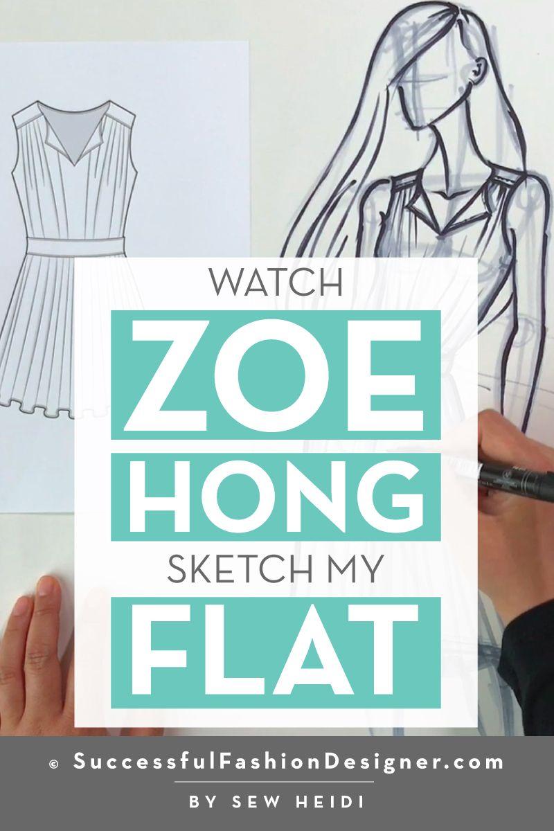 Zoe Hong Illustrates Sew Heidi S Illustrator Fashion Flat Courses Free Tutorials On Adobe Illustrator Tech Packs Freelancing For Fashion Designers Fashion Design Jobs Fashion Flats Fashion Inspiration Design