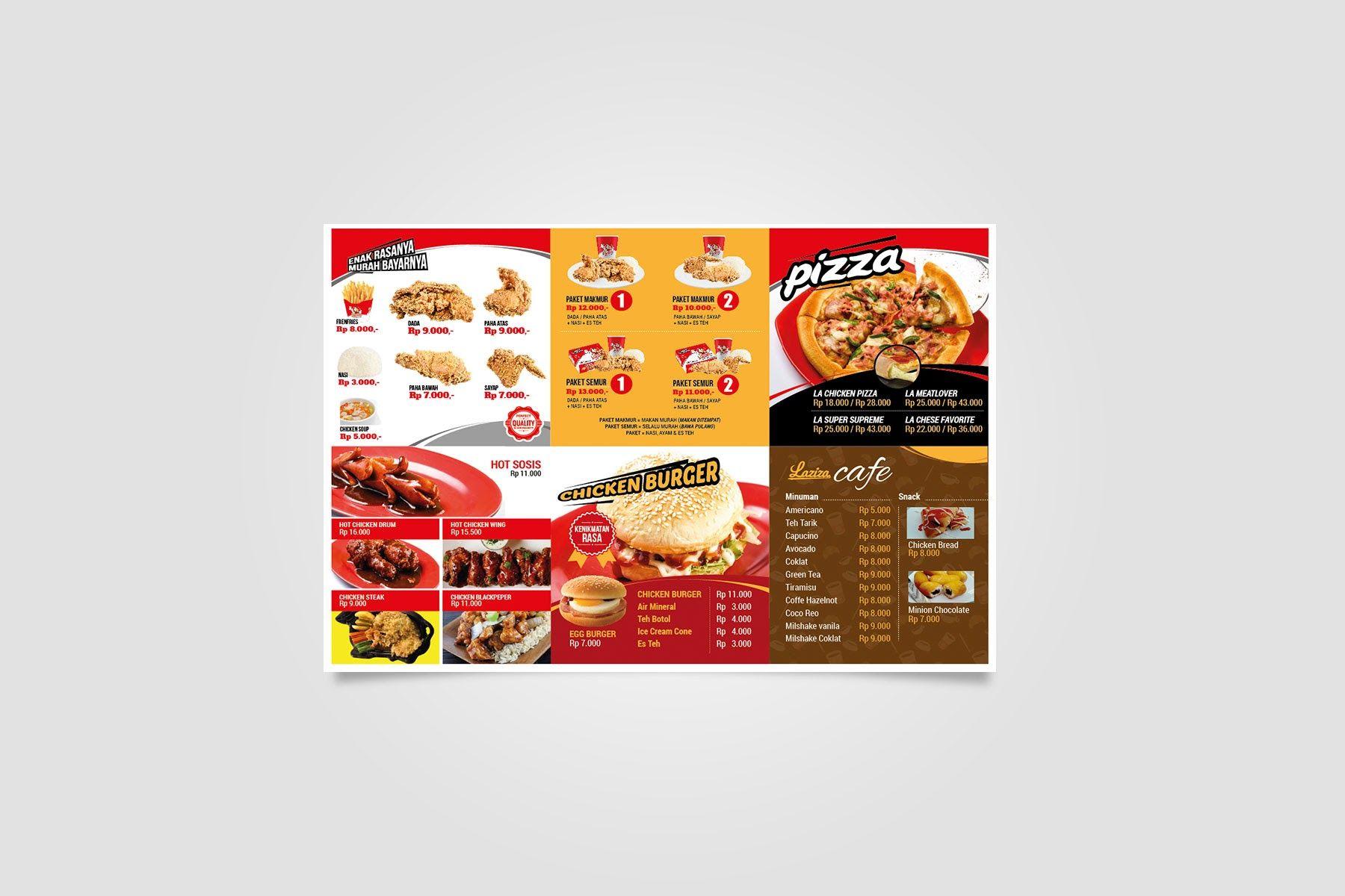 Brochure Design Laziza Fried Chicken Portofolio Pinterest Sambal Bawang By Aisha Store Sby