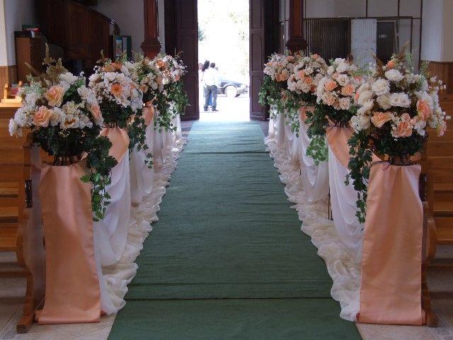 Muito decoração casamento igreja cor salmão - Pesquisa Google | Ideias  SM72