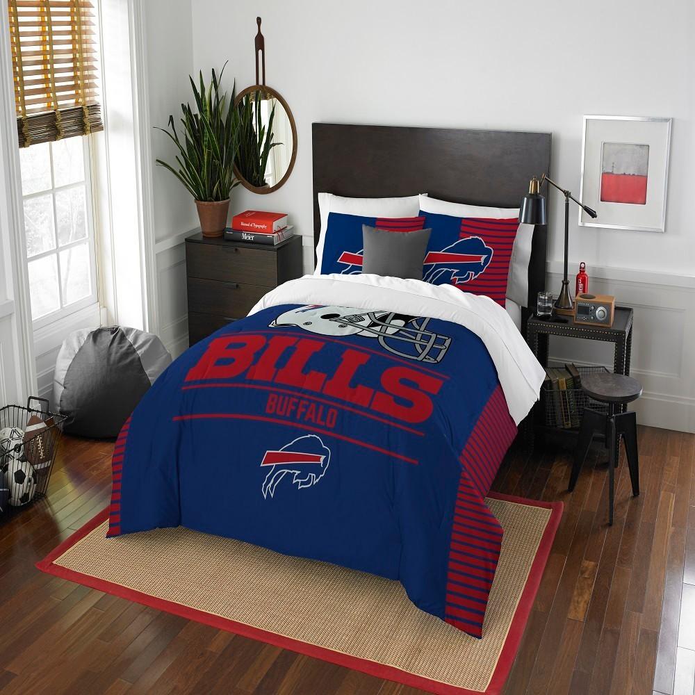 Nfl Buffalo Bills Northwest Draft Full Queen Comforter Set Full