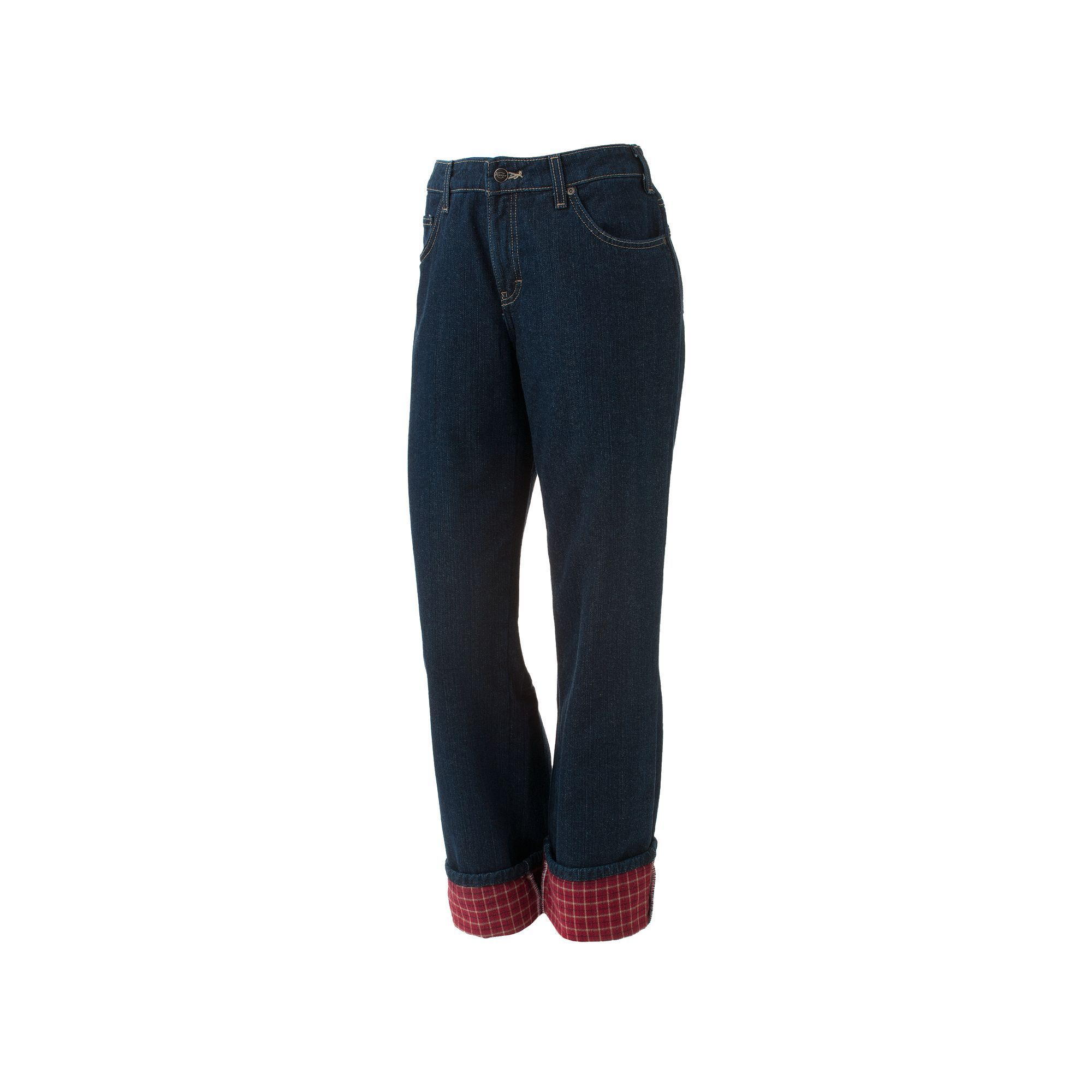927b523d7c5 Dickies Flannel-Lined Straight-Leg Jeans - Women s