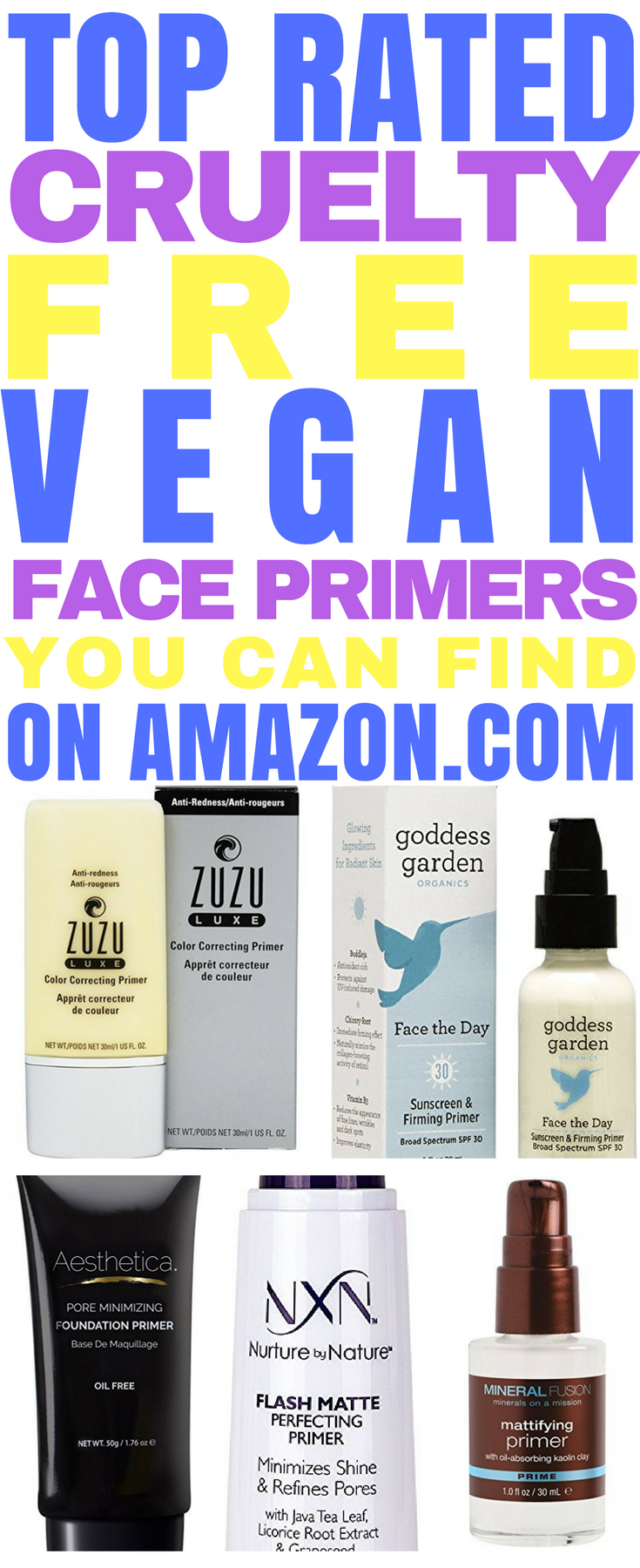 5 Best Cruelty Free Vegan Face Primers, On Amazon Face