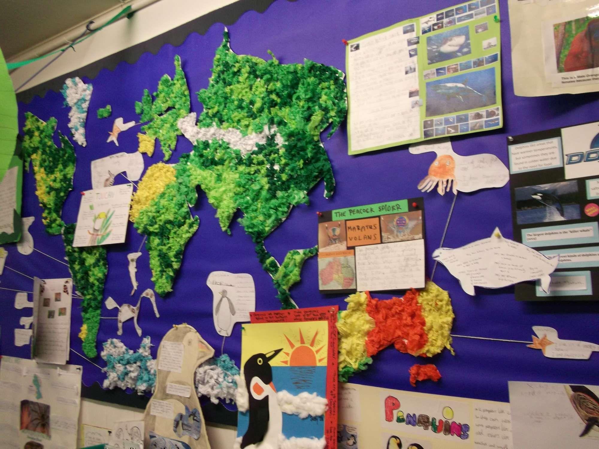 Year 3 World Geography Study Habitats World Map