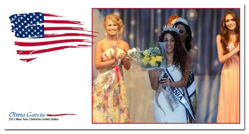 Miss Teen California United States Olivia G. being crowned