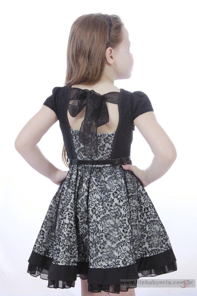 1e9414a5e Vestido Infantil Diforini Moda Infanto Juvenil 010787