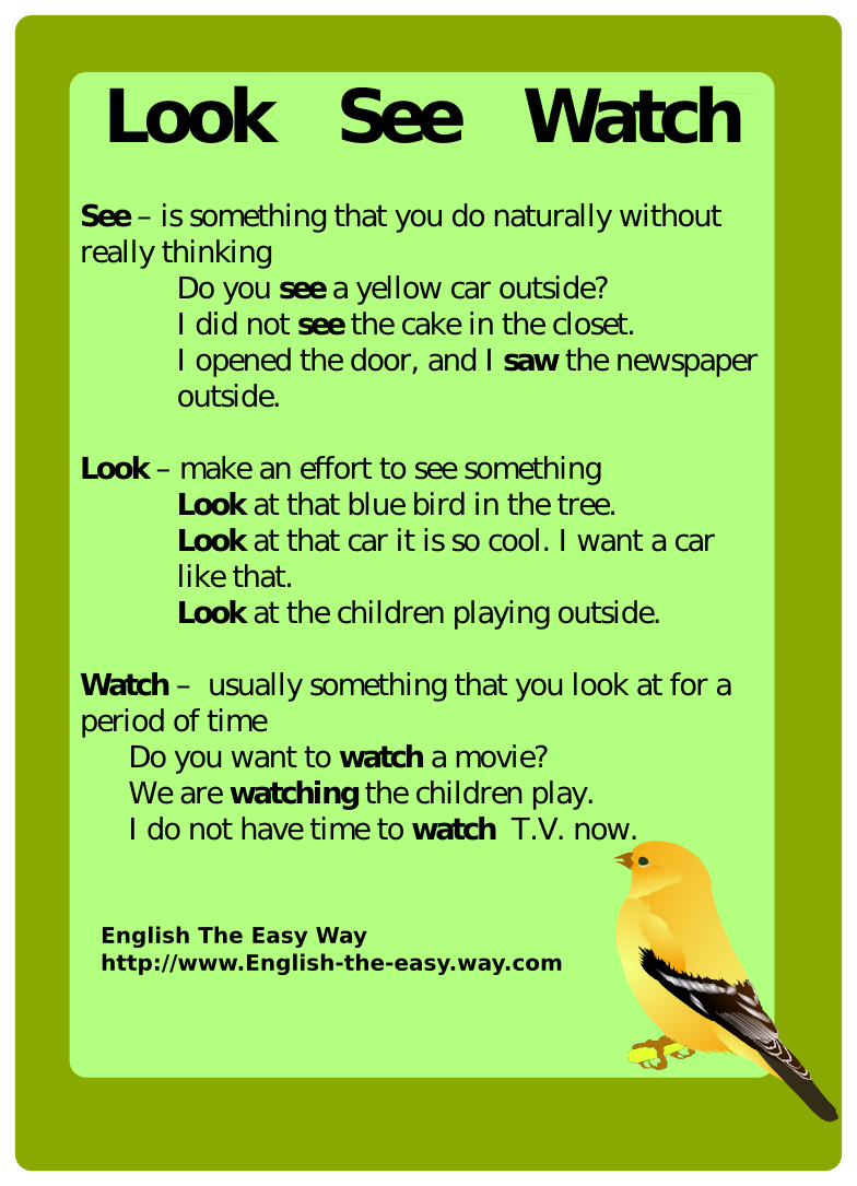 For more English go to: www.english-the-easy-way.com For more confusing words go to: http://www.english-the-easy-way.com/Confusing_English/Confusing_English_Page.com