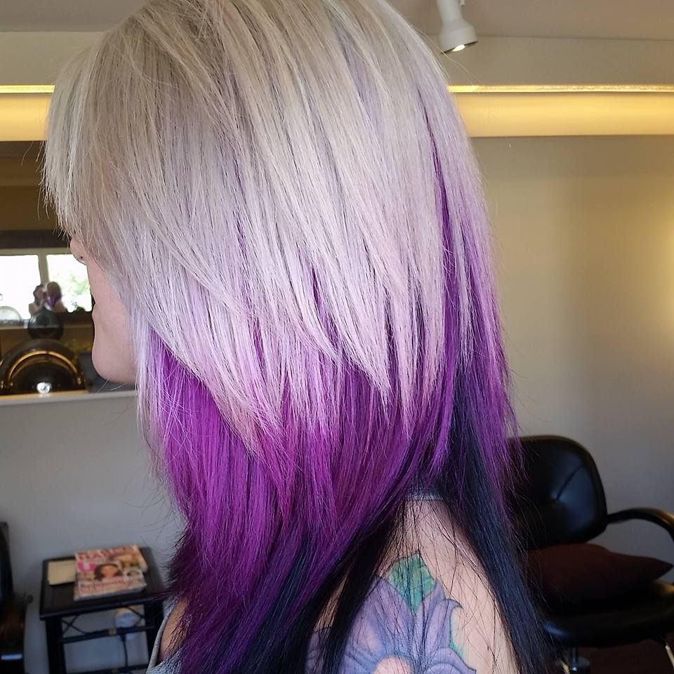 Blonde And Purple By Katie At Radura Salon And Spa In Manchester Nh