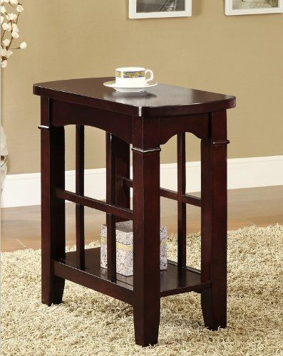 Elegant Chair Side End Table F06107 By Hp 125 99 Brown Finish Elegant Chair Side Table F06107 Dimensions 24 X 12 X 24 Chair Side Table Table End Tables