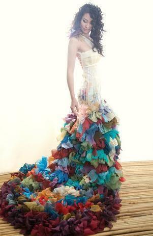 Modisches und Chic langes Kühle Farbigen Brautkleider | Spanisch ...