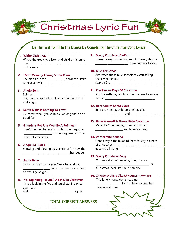 Christmas Song Game Christmas Music Game Christmas Carol Game Printable Christmas Games Diy Holiday Games Xmas Printables 4 Less Printable Christmas Games Christmas Song Games Christmas Lyrics