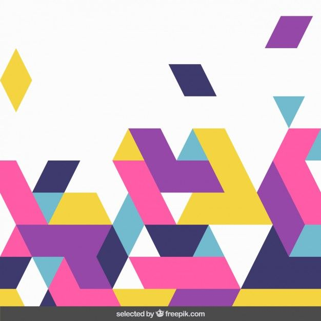 Colorful Shapes Background Free Vector Vector Free Vector Shapes Vector