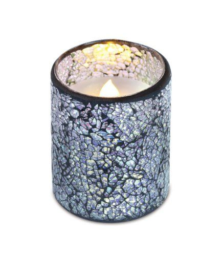 4 Silver Splendor LED Flameless Battery Operated Pillar Candle with Timers >>> Check this awesome product by going to the link at the image.