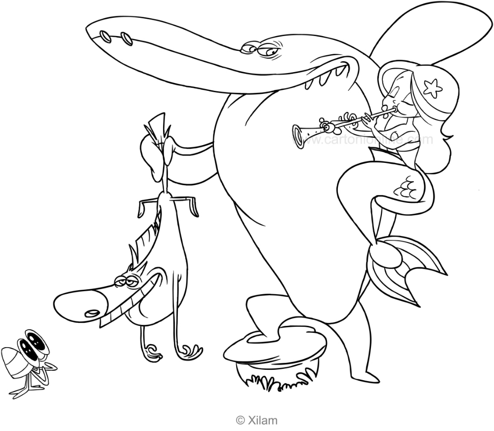 Zig Sharko Marina And Bernie Coloring Page Coloring Pages Superhero Coloring Beautiful Mermaids