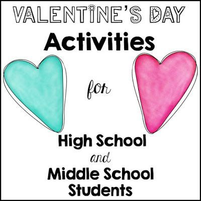 Valentine's Day Activities for high school and middle school ...