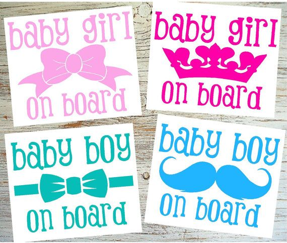 5 Tall Baby Boy Gril On Board Decal Baby Car By