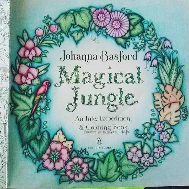 Johanna Basford Magical Jungle Title Page Thisismyart Adultscolortoo Johannabasford Magicaljungle Coloring Books Basford Instagram Posts